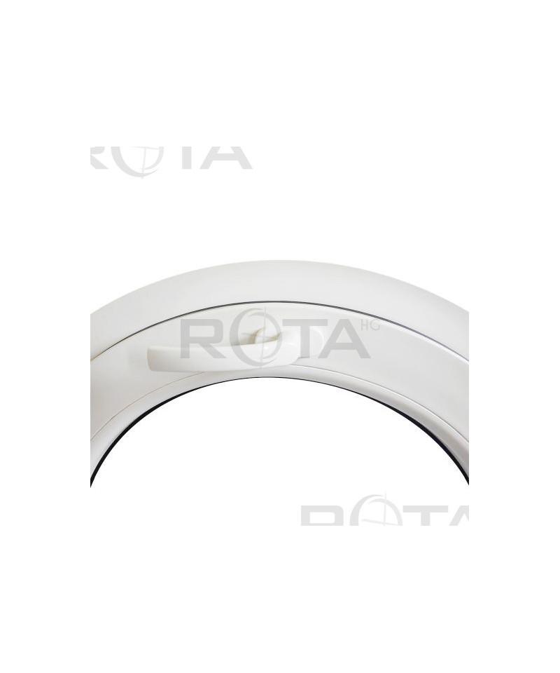 Finestra obl a vasistas in pvc bianco con doppi vetri - Finestra rotonda e ovale ...