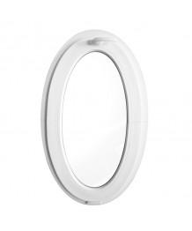 Finestra ovale 600x1000 a vasistas oblò in PVC Bianco