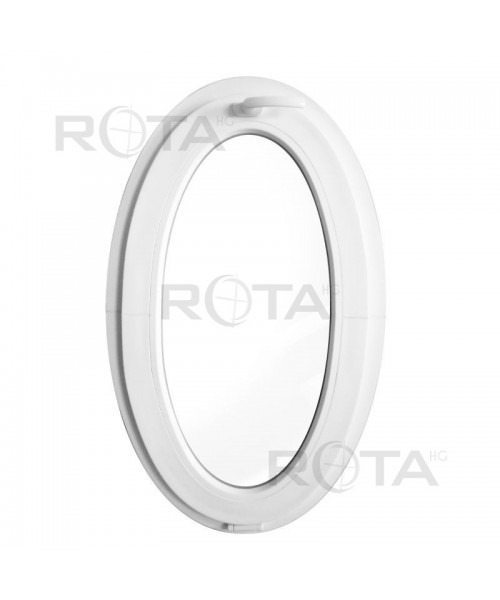 Finestra ovale 600x1000mm a vasistas oblò in PVC Bianco