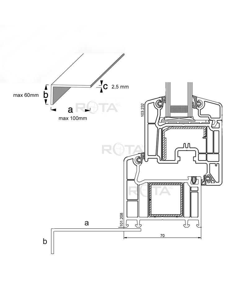 Profilo angolare in pvc per finestra rotonda - Finestra ovale e finestra rotonda ...