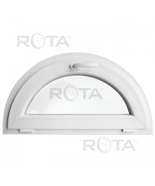 Finestra semicircolare a vasistas mezzaluna in PVC Bianco