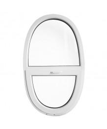 Finestra ovale 900x1500 sopraluce a vasistas oblò in PVC Bianco