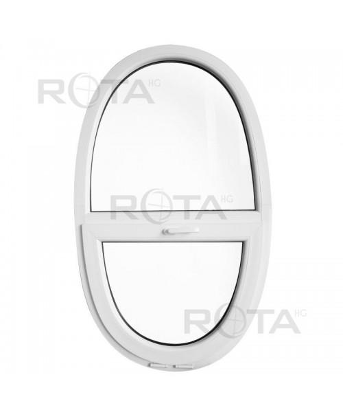 Finestra ovale 900x1500mm sopraluce a vasistas oblò in PVC Bianco