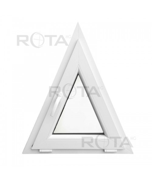 Finestra triangolare 700x850 a vasistas pvc bianco for Finestra a vasistas