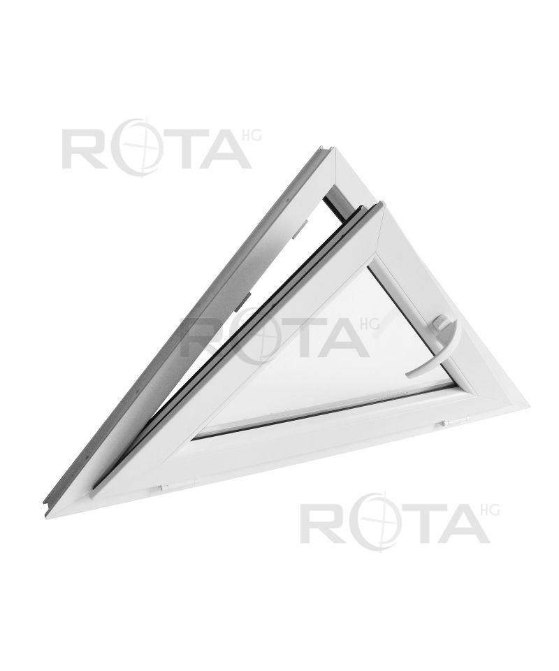 Finestra triangolare 1000x600 a vasistas pvc bianco for Finestra a vasistas