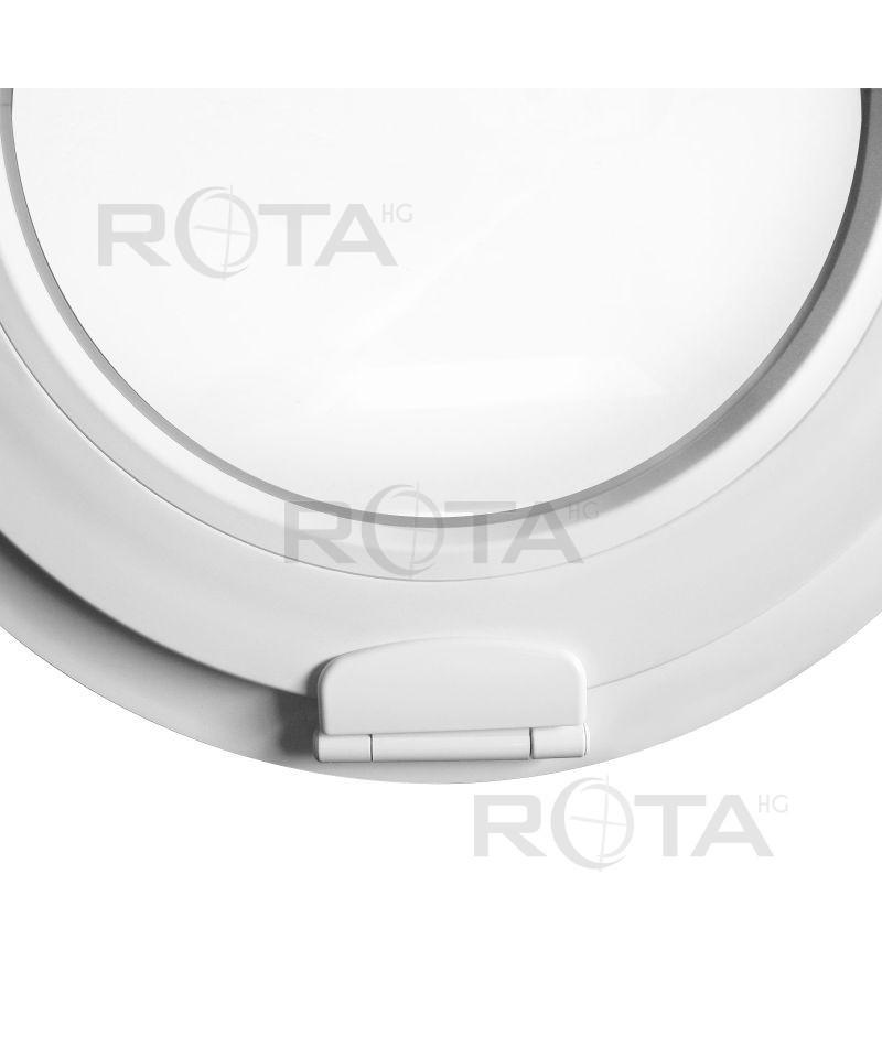 Finestra ovale a vasistas obl in pvc bianco estetic 3d for Finestra a vasistas
