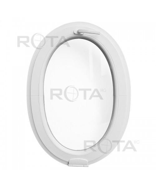 Finestra ovale a vasistas con una cerniera Estetic3D PVC Bianco