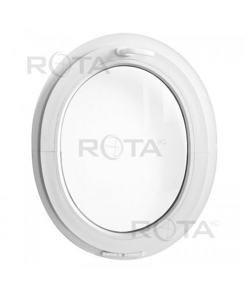 Finestra ovale a vasistas obl in pvc bianco verticale for Finestra a vasistas