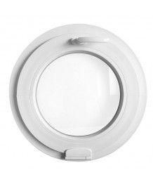 Finestra rotonda oblò a vasistas con una cerniera Estetic3D PVC Bianco