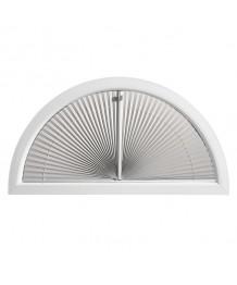 Tenda plissettata per finestra semicircolare