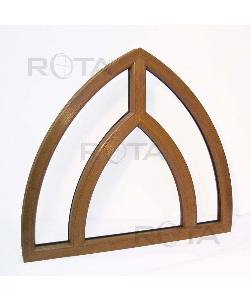 Finestre ad arco fisse 1150x1050 pvc colore quercia dorata - Finestre ad arco ...