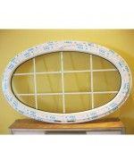 Finestra ovale a vasistas 1600x900mm oblò in PVC Bianco con inglesine interno