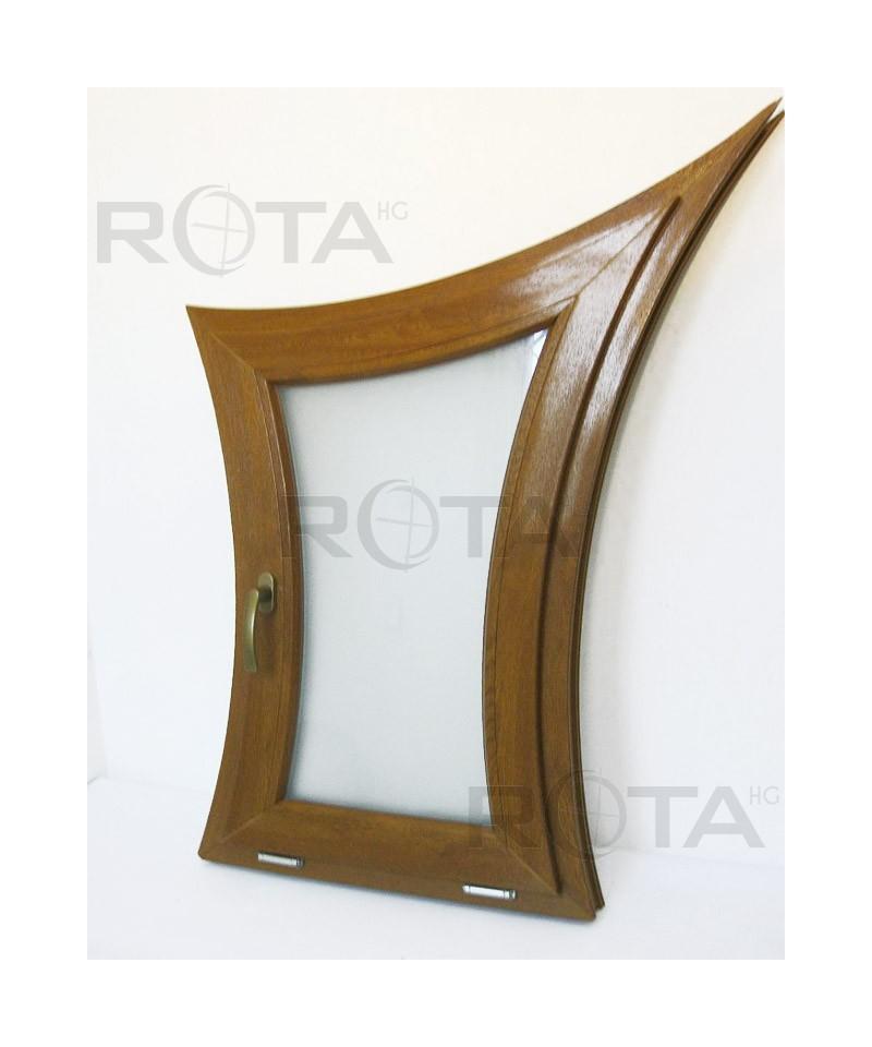 Finestre ad arco 650x1200 a vasistas pvc quercia dorata - Finestre ad arco ...