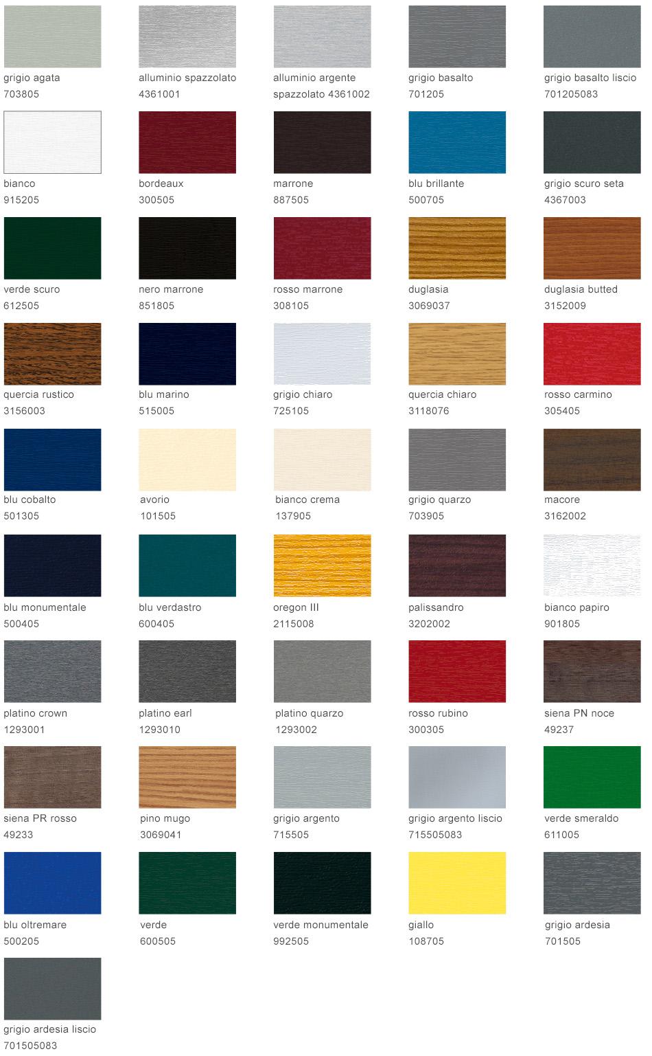 colori non standard