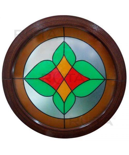 Finestra rotonda oblò fisso in PVC con vetro decorativo