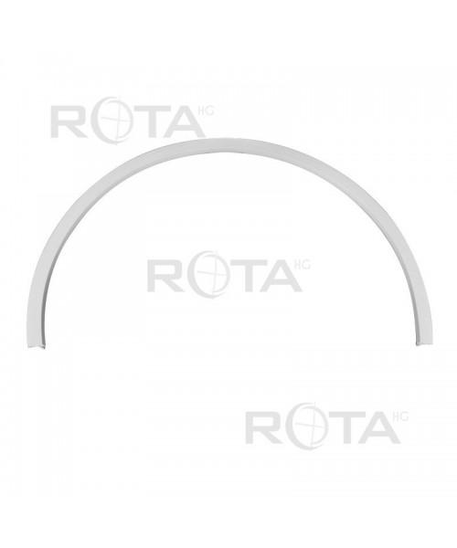 Profilo di raccordo bianco per le finestre rotonde semicircolari ovali