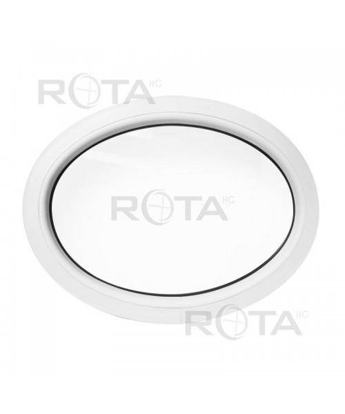 Finestra ovale fissa 710x520 in PVC bianco