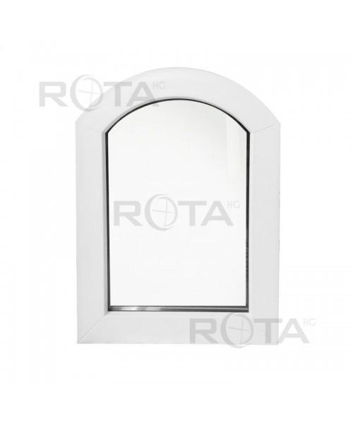 Finestra ad arco fissa 600x900mm in PVC bianco