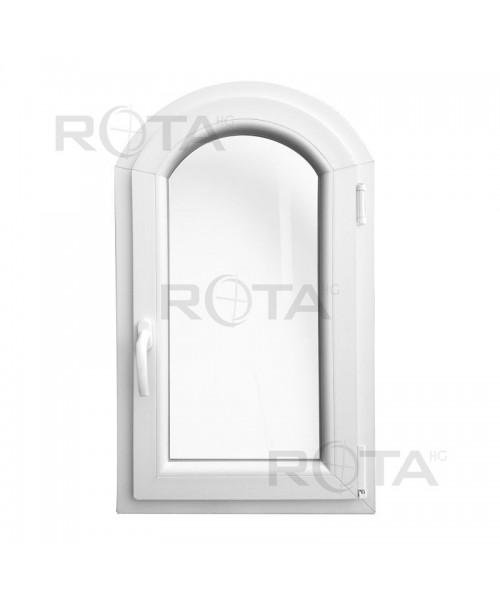 Finestre ad arco 500x900 anta-ribalta PVC Bianco