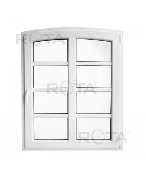 Finestre ad arco 1000x1250 anta-ribalta PVC Bianco