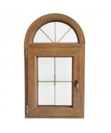 Finestra ad arco 570x1000 ad un'anta a battente PVC inglesine interne
