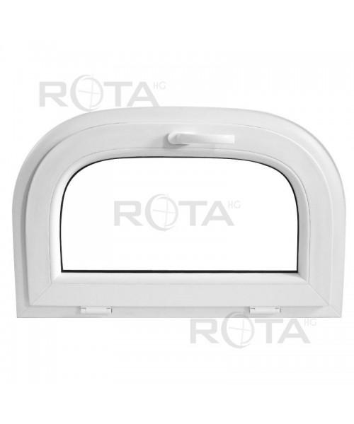 Finestra ad arco 1000x500mm a vasistas Bianco in PVC