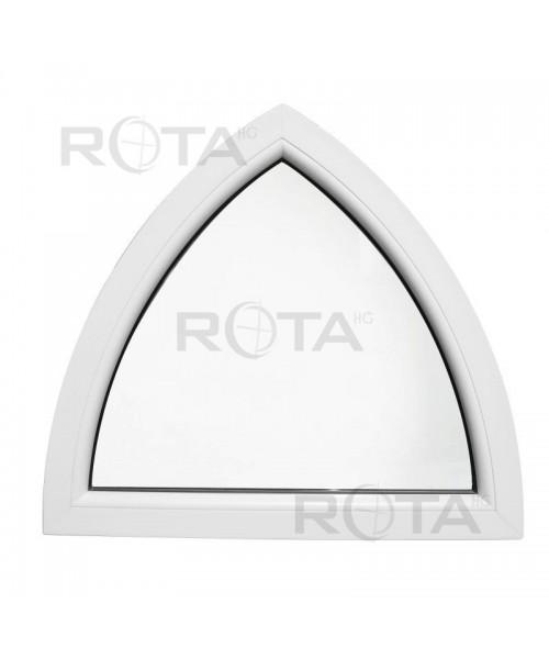 Finestra ad arco fissa 900x850mm in PVC bianco