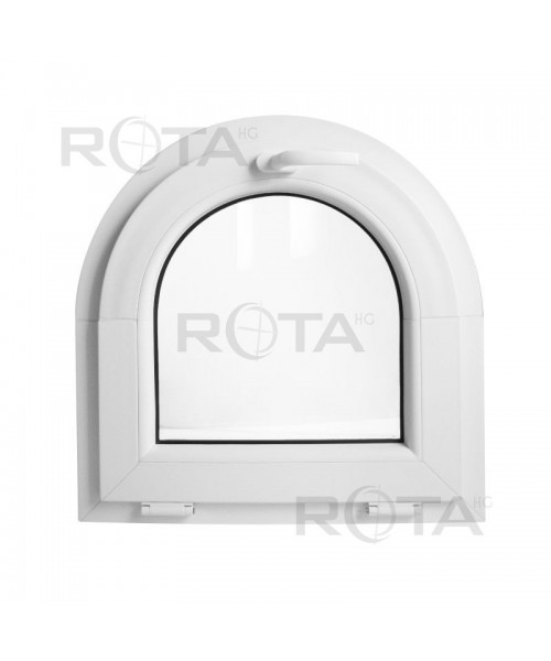Finestra ad arco 600x600mm a vasistas Bianco in PVC