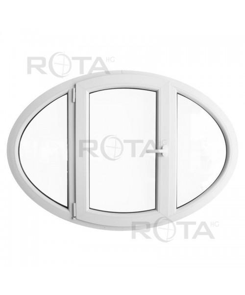 Finestra ovale 140x100cm a battente oblò in PVC Bianco