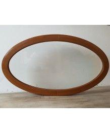Finestra ovale fissa 1160x660 in PVC Quercia Dorata