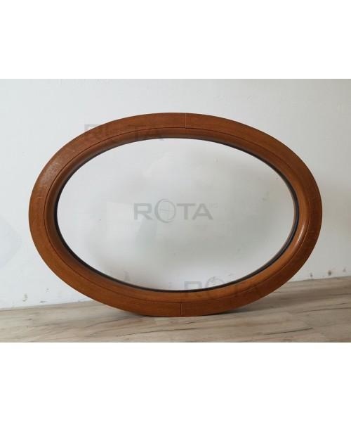 Finestra ovale fissa 900x625 in PVC Quercia Dorata