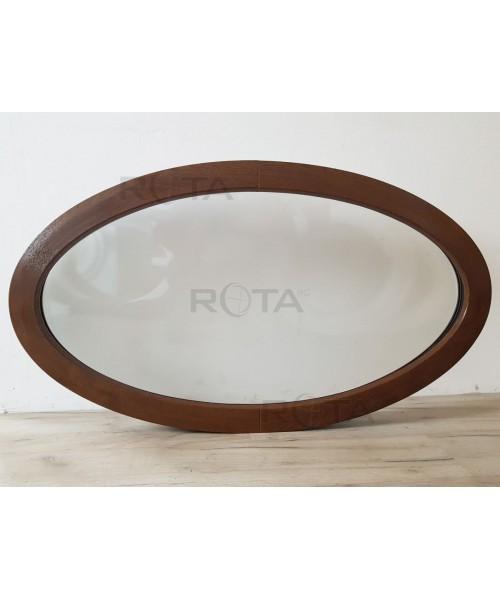 Finestra ovale fissa 1160x660 mm in PVC colore Noce