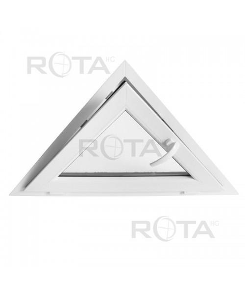 Finestra triangolare a vasistas PVC Bianco
