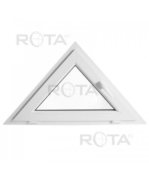 Finestra triangolare 1200x600 a vasistas PVC Bianco