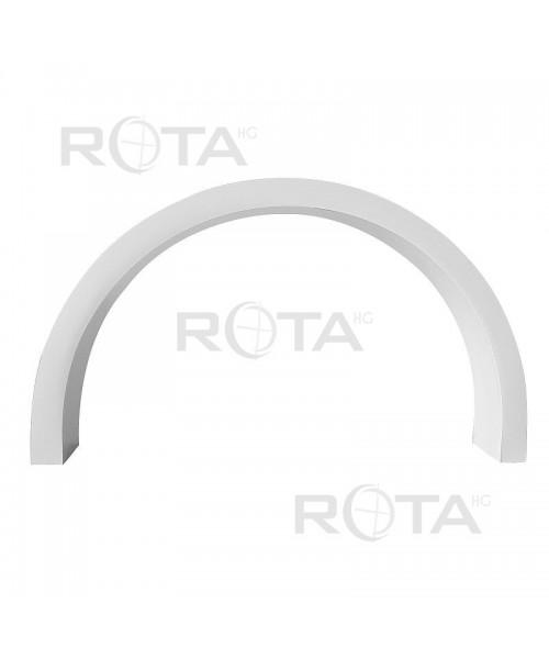 Profilo angolare in PVC bianco per finestra rotonda e semicircolare