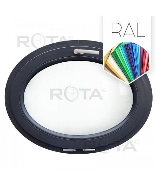 Finestra ovale a vasistas oblò PVC colore RAL (orizzontale)