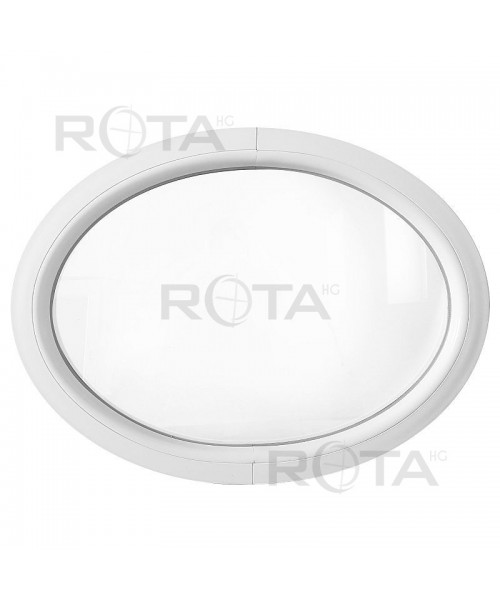 Finestra ovale fissa orizzontale PVC bianco