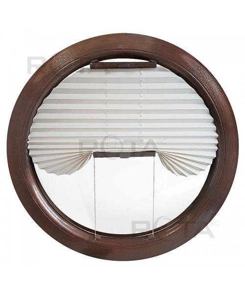 Tenda plissettata oscurante per finestra rotonda