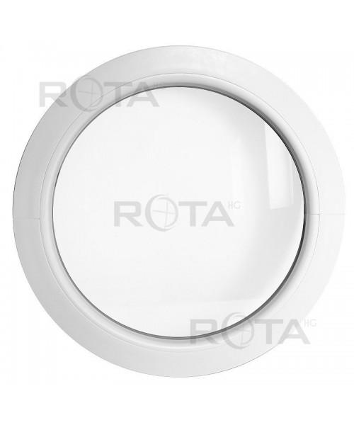 Finestra rotonda oblò fisso in PVC bianco con telaio a Z