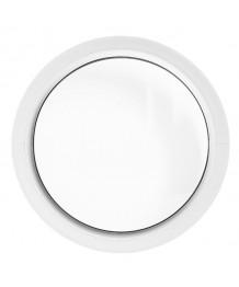 Finestra rotonda oblò fisso in PVC bianco