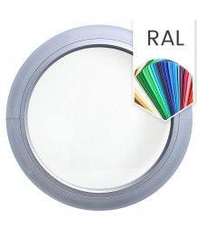 Finestra rotonda fissa in PVC colore RAL