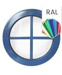 Finestra rotonda fissa in PVC colore RAL con inglesine incollate