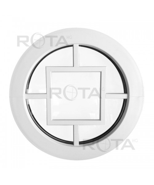 Finestra rotonda fisse oblò in PVC con inglesina decorativa