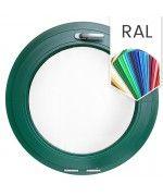 Finestra rotonda oblò a vasistas in PVC colore RAL