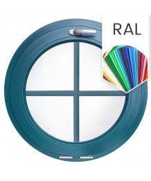 Finestra oblò a vasistas PVC colore RAL con inglesine interne