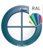Finestra oblò a vasistas con inglesine interne PVC colore RAL