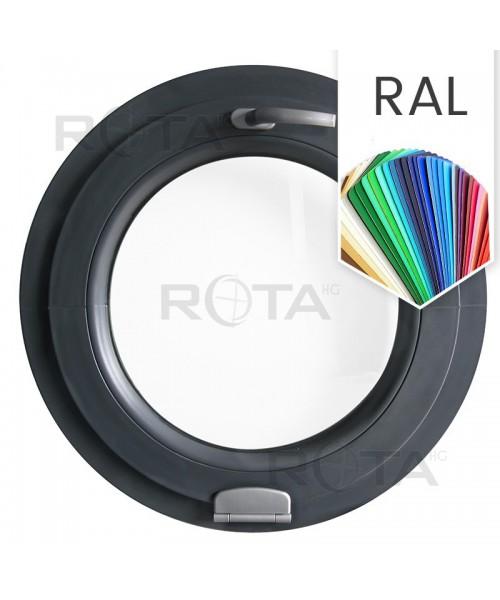 Finestra rotonda a vasistas PVC colore RAL con cerniera Estetic 3D
