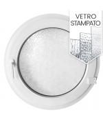 Finestra oblò a battente in PVC Bianco con vetro stampato