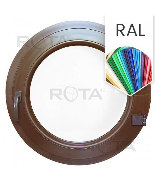 Finestra oblò a battente in PVC colore RAL