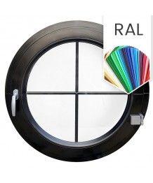 Finestra rotonda a battente PVC colore RAL con inglesine interne